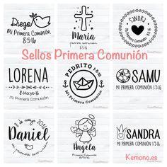Modelos de Sellos de Comunión para niña y niño #comunion #sellos #personalizado #circular