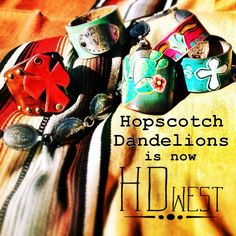 Well, today's the day- Hopscotch Dandelions is now HD west! After almost 5 years of using the Hopscotch Dandelions name I've decided to make a few changes & some updates. As always I will still offer custom painted boots, saddle blanket bags, cuffs & other custom leather goods. I will be adding new items all this week & the new website will be up and running within a day or two. Check out HD west on Facebook!