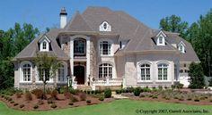 Brockton Hall House Plan # 07141, Front Elevation, Estate Size House Plans, Traditional Style House Plans