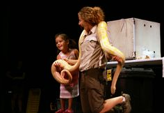 Wild World of Animals lets one young lucky audience member come up on stage and help hold the Python live on The Palace Theatre Stamford's Harman Stage!