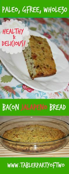 Super yummy PALEO Bacon Jalapeno Bread!