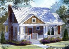great house plan with open floor plan