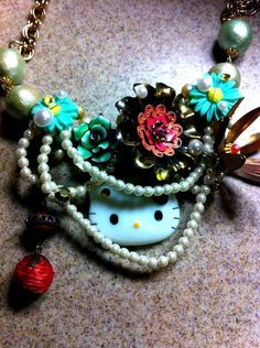 Hello Kitty St Patrick's Day Necklace RESERVED by Shalottlilly5, $50.00