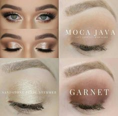 Get this eyeshadow look Senegence Shadowsense Garnet Moca Java and Sandstone Pearl Shimmer eyeshadows Senegence Lipsense Neutral eye eyeshadow