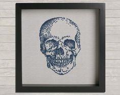 Anatomy No. 1 Skull Cross Stitch Pattern-11 Main