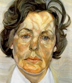 Man's Head, Self Portrait - Lucian Freud - WikiPaintings.org