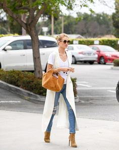 Fresh New Ways to Wear Your $5 White T-Shirt via @WhoWhatWear