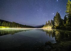 Stars out at Hume Lake in the Sequoia National Forest - Sierra Nevada Mts