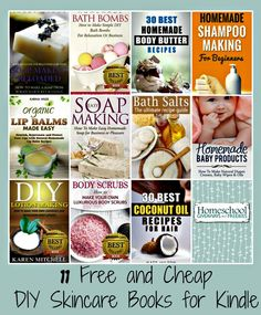 FREE and Cheap DIY Skincare Books for Kindle!