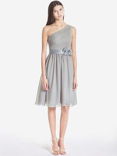 Pin to Win a Wedding Gown or 5 Bridesmaid Dresses! Simply pin your favorite dresses on www.forherandforhim.com to join the contest!   One Shoulder Chiffon Dress $169.99