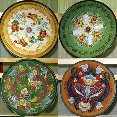 beautiful quartet | Four plates, beautifully painted in the … | Flickr