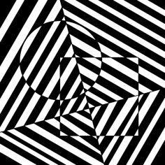 illusion art | Circle And Square Optical Illusion Drawing