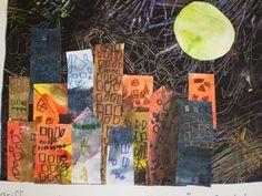 """à partir de l'album """"Que fait la lune la nuit?"""" Nocturne, Art Postal, Art And Architecture, Maths, Albums, School, Artist, Home Economics, Solar System"""