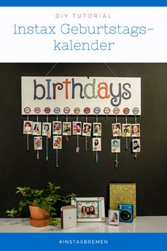DIY: instax Geburtstagskalender instax DIY: Make an instax birthday calendar with us.