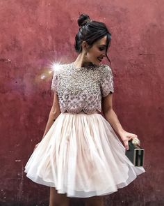 Cute Homecoming Dresses Two Piece, Champagne Party Dress Cute Homecoming Dresses, Homecoming Dresses Two Piece, Champagne Homecoming Dresses Prom Dresses 2019 Champagne Homecoming Dresses, Two Piece Homecoming Dress, Cute Homecoming Dresses, Prom Dresses, Formal Dresses, Sexy Dresses, Evening Dresses, Dress Outfits, Short Dresses