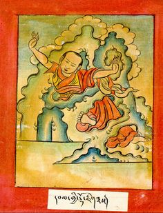 """Lhalung Pelgyi Dorje. One of the eight heart-sons, born to the king's clan, a Bon student sent to India to invite Padmasambhava to Tibet. He studied widely returning to Tibet as one of the eight great scholar-translators. Practicing the three classes of tantra (Father, Mother, Non-dual), he attained siddhi under Guru Rinpoche's guidance. His miracles are biblical and his longer biographies await translation. Of Bonpo origin, he'd exclaim, """"I am descended from the heaven clan, out of the…"""