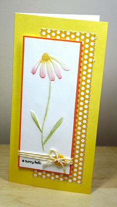 Embossed Daisy by newkidfish (Cathy A), via Flickr