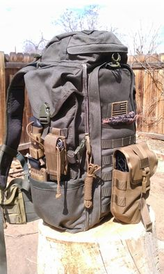 "My Eberlestock ""Head for the Hills"" bag. Everything I need for spending time in the woods. Halftrack"