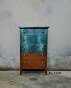 Garage Momma :l: CeCe Caldwell's Chalk + Clay Paint :l: Thomasville Teal :l: Windsor Blue :l: Sedona Red :l: Santa Fe Turquoise :l: Paint Made Easy  #ncfurnitureartist #garagemomma #antique #handpainted #withlove #rustymermaid #shesabeaut #paintersgonnapaint #paintlife #cececaldwellspaints #unicornspit #blended #ceceplayswellwithothers #cecepaints #cececaldwellspaint #originalchalkandclay