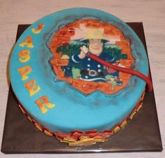 Verjaardagstaart Brandweer Birthday Cake Fire man