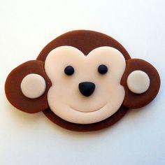 12 Mono comestible Cupcake Toppers. CÍRCULOS por SWEETandEDIBLE