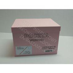 Pudełko na koperty - różowe, ręcznie wykonane