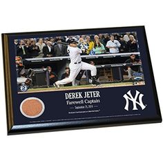 Derek Jeter Final Yankee Moment 8 Inch x10 Inch MLB Major League Baseball Authentic Yankee Stadium Game Used Dirt Plaque         *** Check out this great product. (This is an affiliate link) #SportsCollectibles