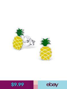 925 Sterling Silver Pineapple Stud Earrings 27472
