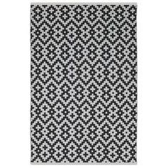 Fab Habitat Estate Samsara Hand-Woven Black/White Indoor/Outdoor Area Rug Rug Size: 2.5' x 8'