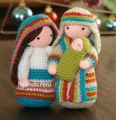 Paso a paso: San José tejido a crochet (amigurumi Joseph tutorial) - Spanish pattern with video Crochet Gratis, Crochet Amigurumi Free Patterns, Cute Crochet, Crochet Dolls, Crochet Baby, Crochet Mignon, Confection Au Crochet, Holiday Crochet, Stuffed Toys Patterns
