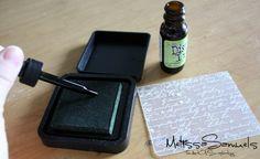 Distress ink refill - tips