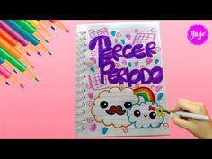Cómo marcar cuadernos - Tercer periodo - Cómo dibujar hermosas nubes kawaii de Arco íris - YouTube Tumblr School Supplies, Bullet Journal School, Anatomy Art, Disney Memes, Juni, You And I, Bff, Doodles, Notebook
