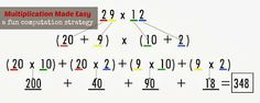 Multiplication Made Easy - a simple way to multiply large numbers