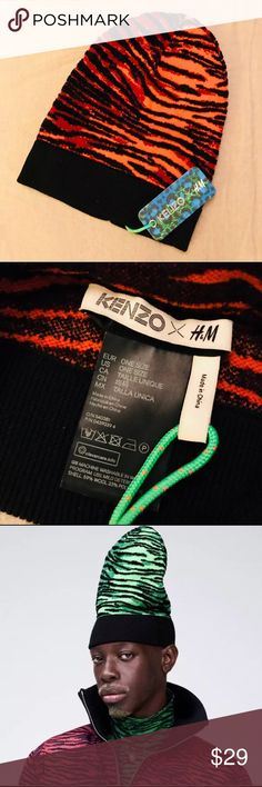 004267aa3 NWT Kenzo x H&M animal print hat Great fun hat from the Kenzo + H&M  collaboration