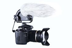The BOYA BY-VM190 is a cost effective shotgun microphone that can easily be mounted on a video camera because it features an integrated shockmount that attaches to the camera's shoe.
