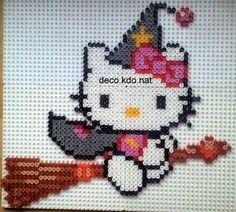 Hello Kitty witch hama perler by deco.kdo.nat
