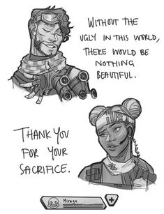 Lifeline and Mirage by Ryonello // Apex Legends Gamer Humor, Gaming Memes, Gamers Anime, Apex Predator, The Revenant, Tumblr, In This World, Funny Jokes, Funny Shit