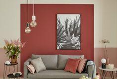 Wall Decor Living Room, Room Wall Colors, Living Room Wall Color, Living Room Decor, Home Decor, Red Living Room Walls, Wall Color Combination, Colorful Interiors, Home Living Room