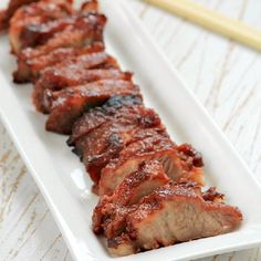 Char siu - Chinese-style barbecued pork.