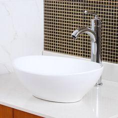 Ceramic Oval Vessel Bathroom Sink. Hängende Badezimmer ...
