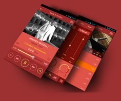Flat Mobile App Music Player by Yasser Achachi , via Behance