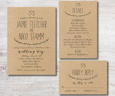 Rustic Wedding Invitation RSVP Details Card by SimplyFetchingPaper, $43.00