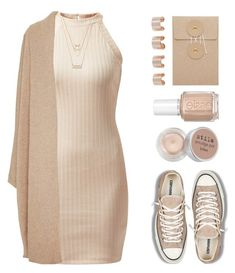 """""""I only call you when It's half past five"""" by felytery ❤ liked on Polyvore featuring Forever 21, Rosetta Getty, Maison Margiela, Stila, Essie and Converse"""