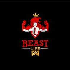 Create a badass active lifestyle brand for Beast Life Co Reds,Dark neutrals,Light neutrals Physical Fitness by GaSu