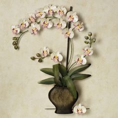 Exotic Blooms Orchid Wall Sculpture