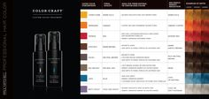 Paul Mitchell Color Craft Color Swatch.