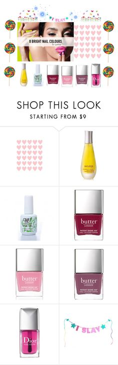 """""""nail summer party"""" by nassophorea on Polyvore featuring Belleza, Decléor, Butter London y Christian Dior"""