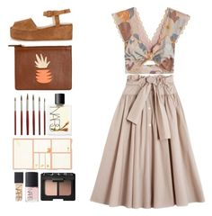 """""""4.380"""" by katrina-yeow ❤ liked on Polyvore featuring Maryam Nassir Zadeh, Lizzie Fortunato, Alice McCall, NARS Cosmetics and Kate Spade"""