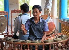 Kantaoming music is one of Cambodia's rarest art forms. The music is played for funerals and features gongs, drums and a uniquely Khmer reed instrument called the srolai. The music is meant to sound like a lullaby, so that the deceased and those who care for them can feel calm as the person enters the after-life.   Photo courtesy of Aga Cebula. #Cambodia #tradition #arts