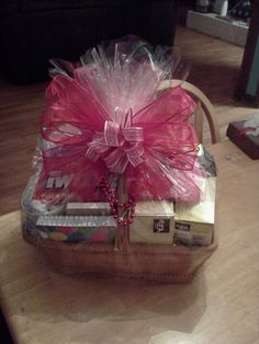 Good Luck and farewell gift basket for a co-worker. She absolutely loved it!